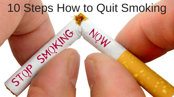 Steps how to quit smoking now