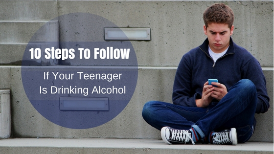 Teenager Drinking Alcohol